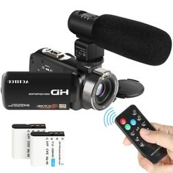 Video Camcorder,ACTITOP 1080P FHD Camcorder 24.0MP 16X Digit