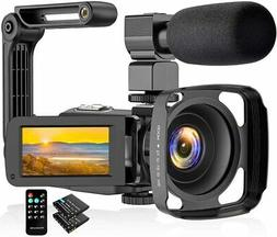 Video Camera 2.7K Camcorder Ultra HD 36MP Vlogging Camera fo