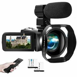 Video Camera 4K 30FPS 48.0MP Camcorder 18X Digital 3.0 in To