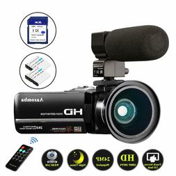 YouTube Vlogging Video Camera Camcorder 1080P Full HD 24MP I
