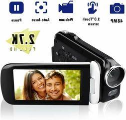 Video Camera Camcorder, CamKing 2.7K 18X HD Ultra-Thin Digit