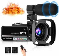 Video Camera Camcorder for YouTube, FHD 1080P 30FPS 24MP Dig