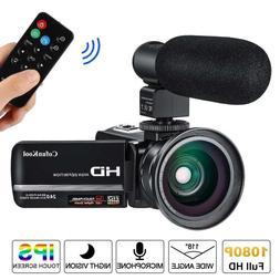 Video Camera Camcorder for YouTube CofunKool Full HD 1080P V