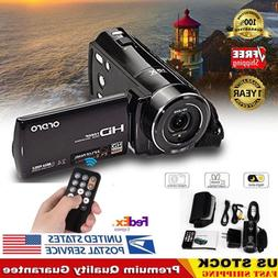 Video Camera Camcorder for YouTube Ordro Full HD 1080P Vlogg