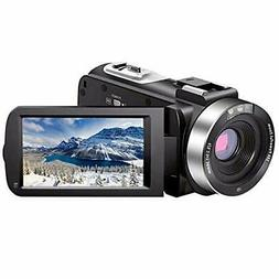 Video Camcorder Full HD 1080P 30FPS 24.0 MP, IPS Screen, Rem