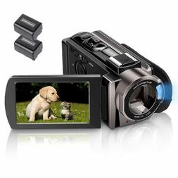 Video Camera Camcorder HD 1080P 24.0MP, 3.0 inch LCD 270 Deg
