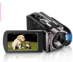 Video Camera Camcorder HD 1080P 24.0MP, 3.0 inch LCD 270 Deg
