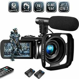Video Camera Camcorder,Vlogging Camera for Youtube 2.7K Full