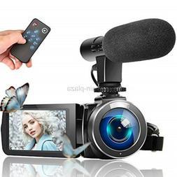 LINNSE Video Camera Camcorder, Vlogging Camera Full HD 1080P