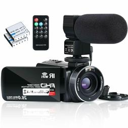Video Camera Camcorder WiFi FHD 1080P 30FPS YouTube Vlogging