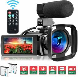 Video Camera Camcorder Wifi Ir Night Vision Fhd 1080P 30Fps