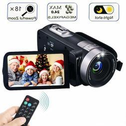 Video Camera Camcorder with IR Night Vision, IBACAKYS 18X Di