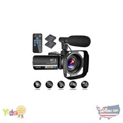 Video Camera Camcorder with Microphone,YouTube Camera Record