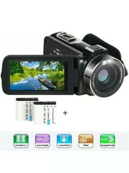 Video Camera Camcorder,Actinow YouTube Vlogging HD 1080P 24.