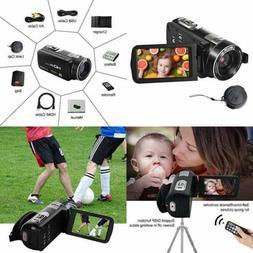 "SEREE Video Camera Full HD 1080P 24.0MP Camcorder 3.0"" LCD"