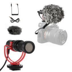 Video Mic Condenser Microphone 3.5mm for Nikon Canon DSLR Ca