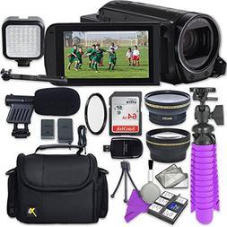 Canon VIXIA HF R72 Camcorder with Sandisk 64 GB SD Memory Ca