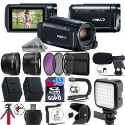 Canon VIXIA HF R800 + Mic + LED + Telephoto & Wide Angle Len