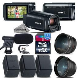 Canon VIXIA HF R800 + Telephoto & Wide Angle Lens + Shotgun