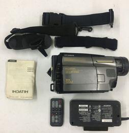 Hitachi VM-H835LA Hi-8 8mm Video Camera Camcorder w/Extras!