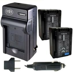 BM Premium 2-Pack of VW-VBT190 Batteries and Battery Charger