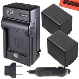 BM Premium 2 VW-VBT380 Batteries and Charger for Panasonic H