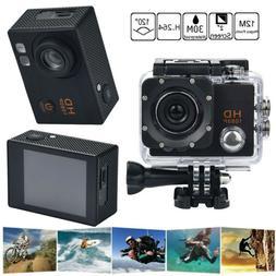 "Waterproof 30M HD 2"" TFT 1080P Sport Action Camera DVR Cam D"