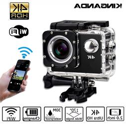 Waterproof Ultra HD 4K UHD Action Sport Video Camera WiFi <f