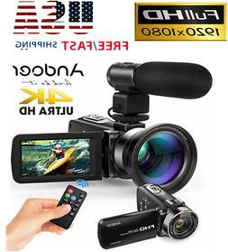 "WiFi 4K FHD Digital Video Camera Camcorder 1080P 24MP 3.0"" R"