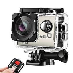 WIFI Sports Action Camera, Waterproof 1080P FHD Camcorder, Q