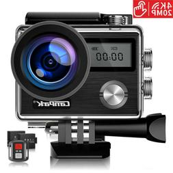 WIFI Action Camera Campark 1080P 4K 20MP Sport Touch Screen