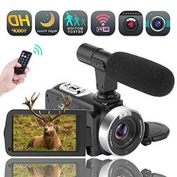 Video Camera WiFi Camcorder Digital Camera Full HD 1080P 30F