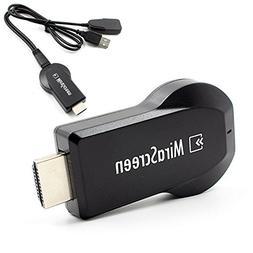 Ximoon Wifi Display Dongle AirPlay DLNA TV Stick, 1080P HDMI