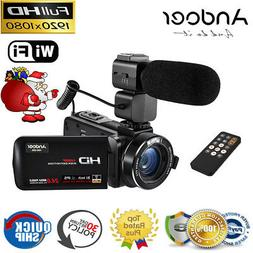 Andoer IPS HD WiFi 1080P 24MP Digital Video Camera DV Camcor