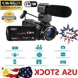 Andoer WiFi FULL HD IPS 1080P 24MP Digital Video Camera DV C
