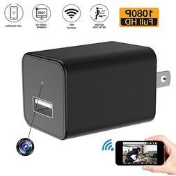 Abedoe 1080P WIFI HD Camera USB Wall Plug Charger Adapter Se