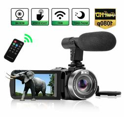 WiFi Vlog Camera Camcorder with Microphone IR Night Vision F