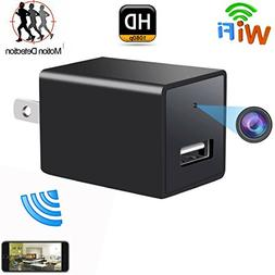 Wifi Hidden Spy Camera , USB Wall Charger Adapter Cam-1080P