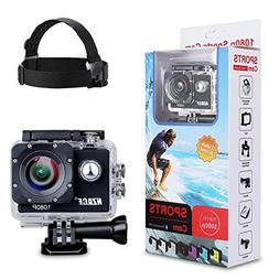 Will-Win Action Camera1080p Sports Cam - 140°Wide Angle Len