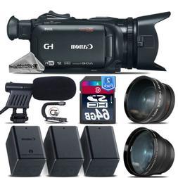 Canon XA15 Camcorder + Telephoto & Wide Angle Lens + Shotgun