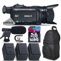 Canon XA15 Camcorder + Shotgun Mic + 2 Extra Battery + Stabi