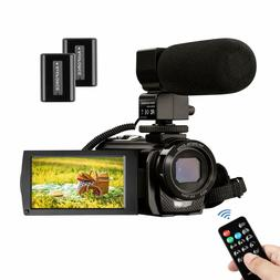 Youtube Video Camera Camcorder FHD 1080P 30FPS with Micropho