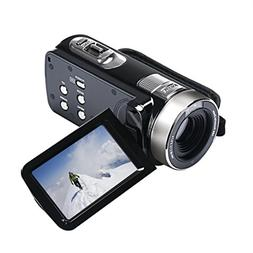 Hometom 16X ZOOM Full HD 1080P 24MP Digital Video Camcorder